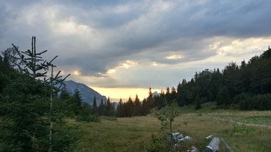 Abenddämmerung im Sutjeska Nationalpark