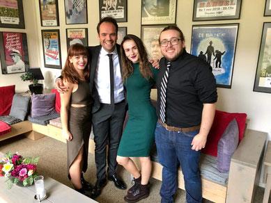 v.l.n.r.: Chelsea Ausma, Simon Feenstra, Christina Iliria & Cody Bilal Greaver