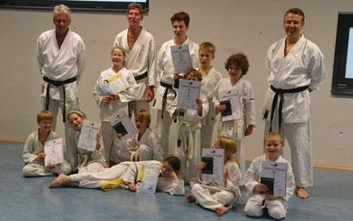 Yuishinkan Karate Dortmund Kinderprüfung Sommer 2017