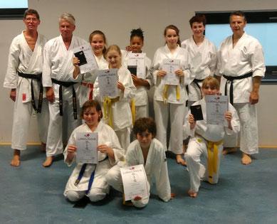 Yuishinkan Karate Dortmund Jugendprüfung Sommer 2017