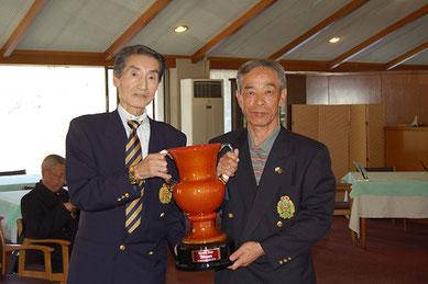 優勝者 島田選手(右)