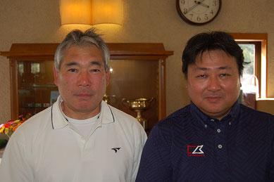 優勝者 岩下選手(左)、金子選手(右)