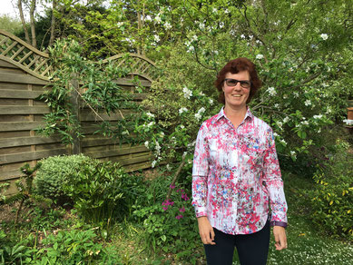 Charlotte Cheetham Qualified Life Coach in her garden in Welwyn