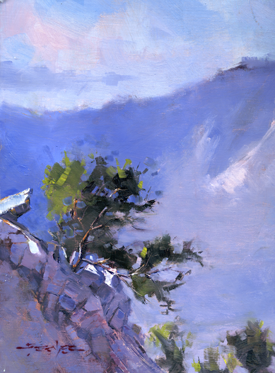 View from Emory Peak - 12x9-inch oil on canvas panel.