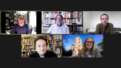Der Vorstand (von links oben): Dr. Rainer Stommer, Andreas Ehresmann, Jonas Kühne, Dr. Harald Schmid und Kirsten John-Stucke