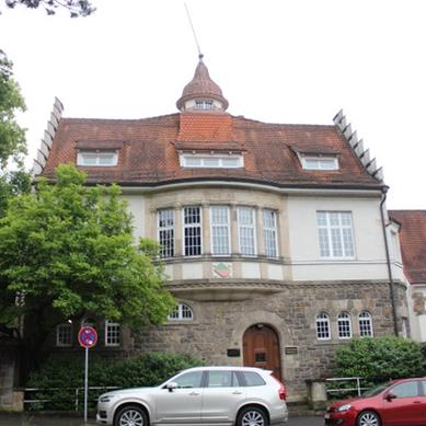 Im Haus des Corps Franconia Tübingen verbrachte das SWF-Studio seine ersten vier Jahre. Bild: Johannes Thiede.