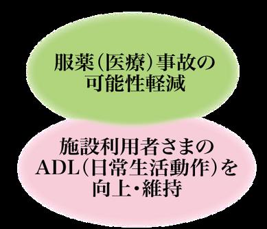 服薬(医療)自己の可能性軽減+施設利用者さまのADL(日常生活動作)を向上・維持‐株式会社メディコンフィアの施設型調剤