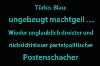 Auch nach der radikalen politischen Umfärbungsaktion des ehemaligen Ministers Faßmann Anfang Mai, geht die parteipolitische Top-Job-Vergabe munter weiter. Bild:spagra