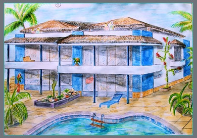 4  Apartment - unit ,rendering water colour