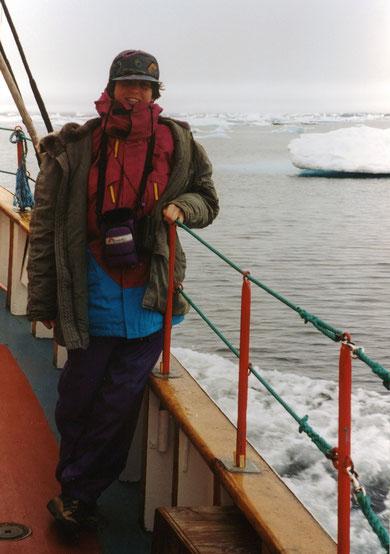 Auf dem Boot: kalt... der zusätzliche Anorak ist geliehen :-)