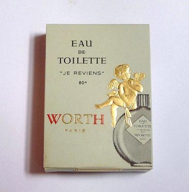 JE REVIENS - ECHANTILLON TUBE EAU DE TOILETTE - AVEC LE CELEBRE ANGELOT DORE SUR LE DESSUS