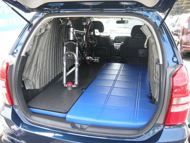 WISH ベッドキット 車中泊 ミニバン トランポ 自転車