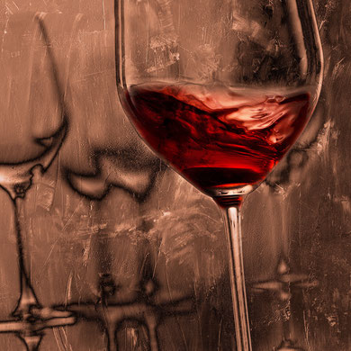 Weingläser 06 auf Leinwand