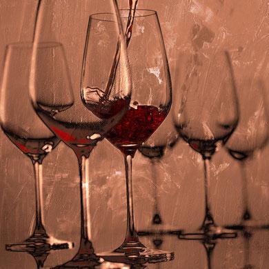 Weingläser 04 auf Leinwand