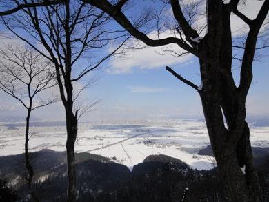 山頂から・・・福井市内の眺望