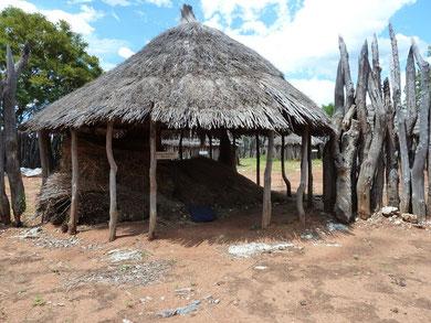 einheimische Nachbarschaft bei Rundu Okavango