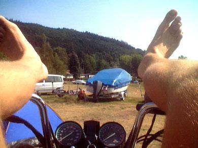 2003 Camping Bleilochtalsperre bei Saalburg