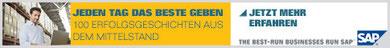 Werbemittel für die SAP-Kampagne