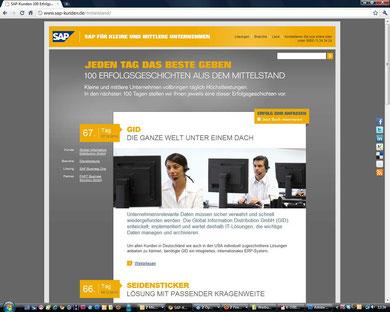 SAP-Referenzkampage: 100 Tage, 100 Kunden
