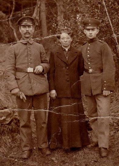 Erich Eisenbrandt, rechts, Opa von Gerd Eisenbrandt, Sammlung Gerd Eisenbrandt