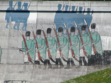 Gemälde am Staudamm Panix