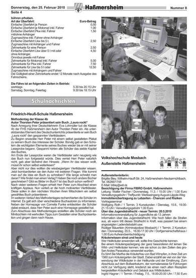 Methodentag vom 09.02.10 im Amtsblatt