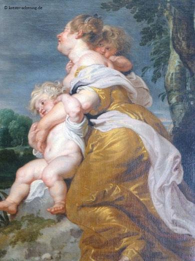 Versöhnung von Esau und Jakob (Detail), Neuburg Galerie, Foto: privat