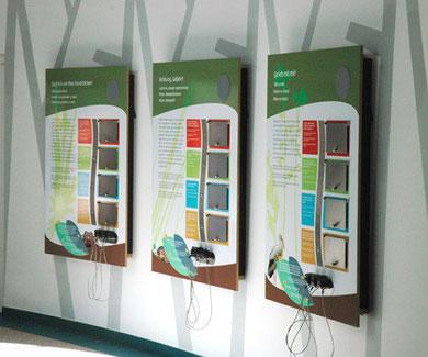 Ausstellungstafel, Digitaldruck, Holz