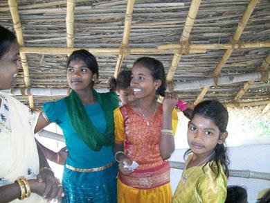 Kinder im Ananda-Home-Projekt in Tiruvannamalai / Indien