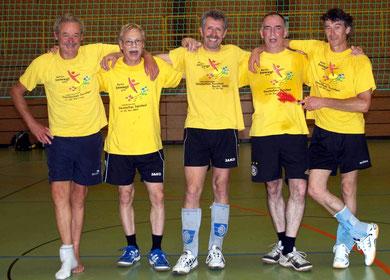 Ü 45 Turnfest-Sieger in Friedrichshafen (v.l.n.r.): Bernd Müller, Werner Hemberle, Gerald Nagel, Horst-Dieter Lutz u. Michael Rüff