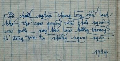Thủ bút của TCQ 1984