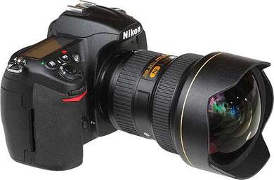 Nikon 14-24mm f/2.8 AF-S trên thân máy D300.