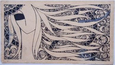 TCQ vẽ năm 1980 ( mực Tàu trên giấy Croquis )