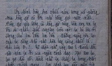 Thủ bút  của TCQ ( năm 17 tuổi )