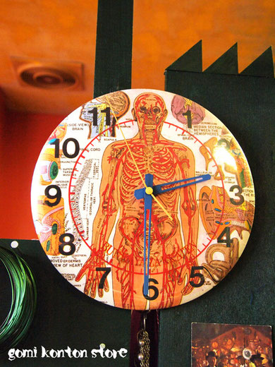 ◆現役でチクタクチクタク時を刻む~文化屋の人体柄掛け時計◆