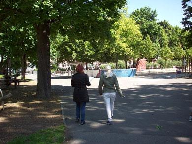 Die Straßenbefragung fand im Park...