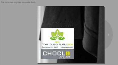 Choclo yoga wear  |  Book Preview  | Bestellung: yogastore@bluewin.ch