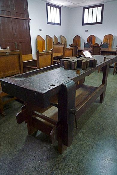 Mobiliário pertencente ao acervo do Museu. Foto: Rubi