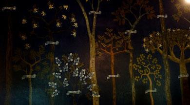 detalhe de afresco do artista Antonio Paim Vieira. Foto: Rubi
