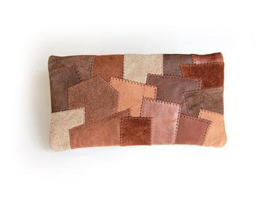 Portemonnaie aus Leder in Patchwork