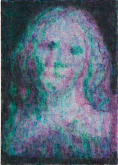 """Sub Image (nuked virgin mary)"", oil on canvas, 70x50cm, 2012"