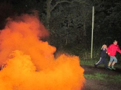Zeltlager 2012 - NAchtwanderung mit Special Effects