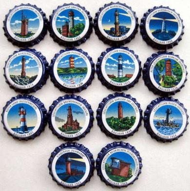 14 Stralsunder Leuchtturm Serie blau