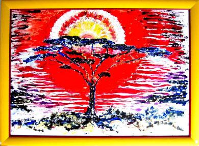 57 Tropische Hitze jedes Ölbild mit Rahmen Grösse 58x78