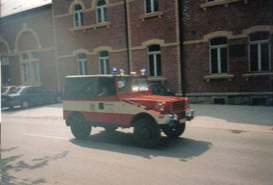 1992 war das Fahrzeug noch im Einsatz und war in der Ortschaft Carolagrün stationiert