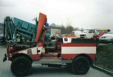2002 konnte das Fahrzeug, zum Dank, von 4 Kameraden und des Bosch-Service Möckel restauriert werden