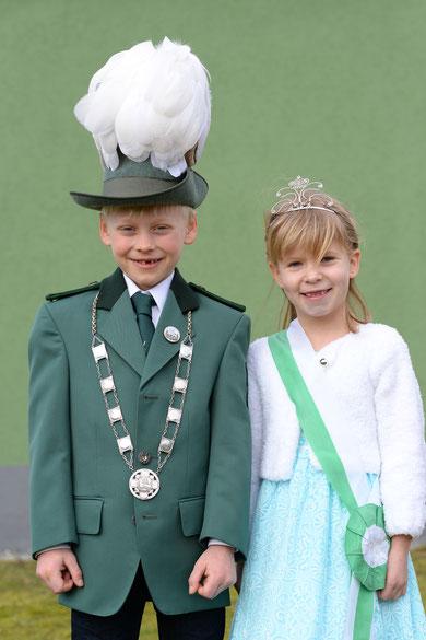 Unser Kinderkönigspaar von 2015-2018: Benedikt I. Paul & Laura I. Fendrich