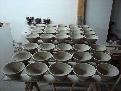 Série de bols à nouilles pour Kunitoraya Paris