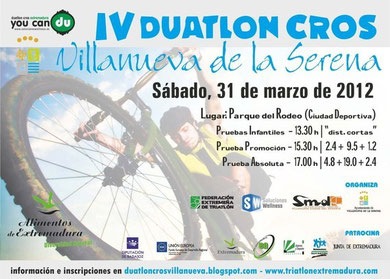 IV DUATLON CROS VILLANUEVA DE LA SERENA