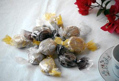 Mantecados surtidos de coco, chocolate y limón etc.